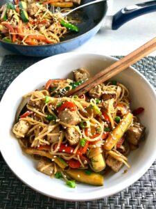 ginger teriyaki tofu noodles talking meals