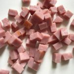 Diced Ham for Cauliflower Cordon Bleu Bake recipe. It layers in nutty and salty Gruyere Cheese, with a creamy Vegetable broth based sauce with garlic and parsley.  Then the ham and cauliflower are folded into all of this goodness and it's baked in the oven until it all becomes one knock-your-socks-off dish! #cauliflower #lowcarb #glutenfree #casserole #onepot #familydinner #mealprep #easydinner #dinner #healthydinner #healthyfood #healthyrecipes