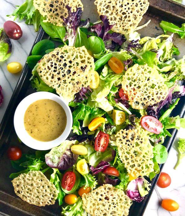 Potluck Salad Herb Parmesan Crips angle left vert